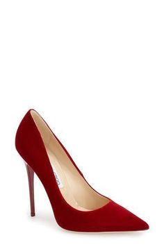 Jimmy Choo 'Anouk' Pump available at #Nordstrom--I couldn't wear this high of a heel, but I love the grace of the shoe. #jimmychooheelsred #jimmychooheelspump