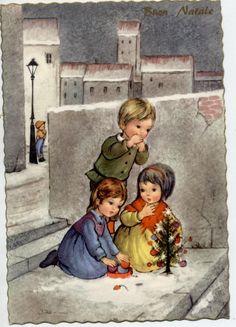 Italian Christmas postcard, c.1940   eBay