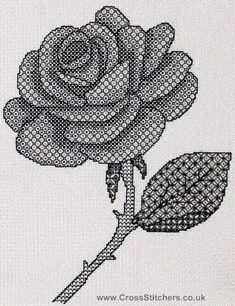 Black Work Cross Stitch Patterns | rose blackwork kit by x calibre designs this blackwork kit is ...