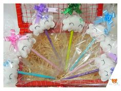 Lembrancinha Lápis de Nuvem Unicorn Birthday Parties, Unicorn Party, Birthday Party Themes, Ideas Bautismo, Cloud Party, Baby Shower, Ideas Para Fiestas, Crafty Craft, Christening