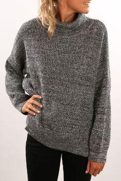 Sadie Knit Sweater Black White | Women's | Jean Jail