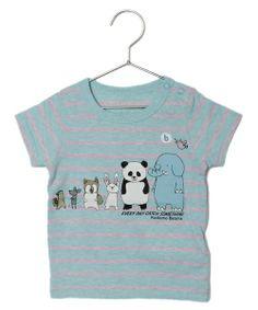 """こども ビームスのこども ビームス / """"animal"""" ボーダーTシャツ (80~120cm)です。こちらの商品はBEAMS Online Shopにて通販購入可能です。"""