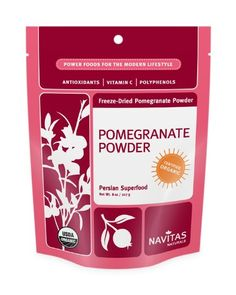 Pomegranates are a rich red fruit loaded with antioxidants, vitamins, potassium, folic acid and iron.    http://www.wholesomeone.com/shop/shop.php?k=%22Pomegranate%22=Supplements