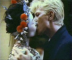 David Bowie with Geeling Ng in the China Girl video in 1983