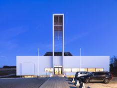 From Archello- LINK arkitektur. Froeyland Orstad Church. Hundven-Clements Photography.