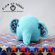 cuteashook's cute #crochet elephant