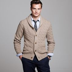 cable cardigan--i think u could pull one off, but we'll have to see in person