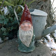 Burdock Garden Gnome. Kimmel studios began when the owner brought a love of old world garden gnomes from her native country of Wales into Sturgis, SD. Hand-made from very strong pottery and hand-glazed on both the inside and the outside, all Kimmel Gnomes are built to last. Because of this detailed process, Kimmel Gnomes can assure that each and every individual gnome they create is somehow unique. Made in USA.