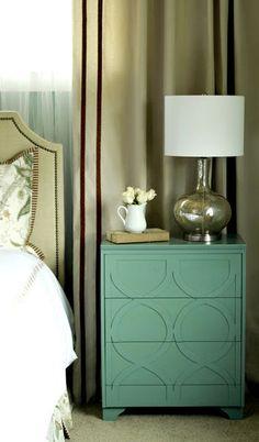 arrangement next to lamp