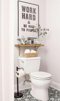 Cute bathroom ideas! #small #bathroom #decorating #ideas