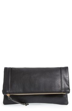 Sole Society Vegan Leather Foldover Clutch available at #Nordstrom