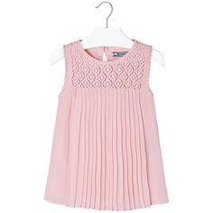 Blusón plisado guipur Rosa pastel