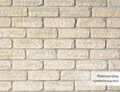 Tumbled Vintage Brick - Platinum Grey