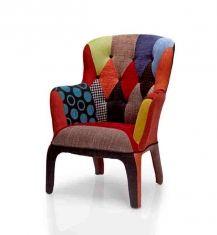 fauteuil au style patchwork modle perseus - Fauteuil Colore