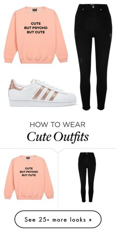 """""""Outfit #81"""" by malayam on Polyvore featuring River Island and adidas Originals"""