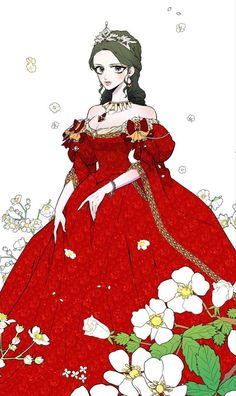 Lady to Queen. Credits to the author Gown Dress Design, Manhwa, Manga English, Writing Fantasy, Romantic Manga, Princess Drawings, Anime Dress, Anime Princess, Fantasy Dress