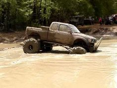 MUD TRUCKS TOYOTA TACOMA on 44 BOGGERS ALMOST STUCK MUDDIN