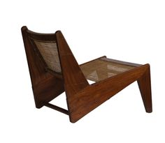 Low caned armless easy chair, Entwurf Pierre Jeanneret