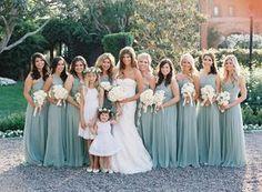 Pretty aqua blue bridesmaid dresses: http://www.stylemepretty.com/2016/02/04/black-tie-secret-garden-wedding/   Photography: Jose Villa - http://josevilla.com/