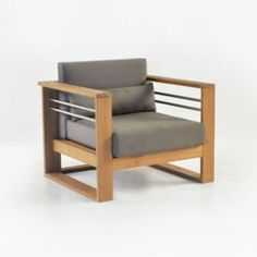 Pacific Teak Outdoor Club Chair-0