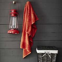Dress up your bathroom with a fiery autumn colour. We like these thick Egyptian towels in rich pumpkin.