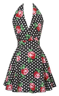 New Floral Black Swing Apron ~ A Holiday Must Have!
