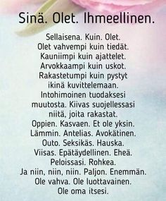"22 tykkäystä, 1 kommenttia - Sari (@sari_marja) Instagramissa: ""Hyvää naistenviikkoa 💖 #naistenviikko #naiset #memyselfandi #onnellinen #onni #uskoitseesi #kesä…"" Happy Quotes, Love Quotes, Inspirational Quotes, Text Quotes, Lyric Quotes, Insightful Quotes, Think, Happy Moments, Note To Self"