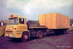 ERF Train Truck, Road Train, Commercial Vehicle, Classic Trucks, Old Trucks, Corgi, Guy, British, Vintage