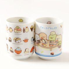 Home & Kitchen / Mugs & Glasses / Sumikko Gurashi Sushi Party Teacups