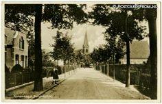 Het kortewegje, Aan het eind kwam (kom) je op de Langeweg, daar stond (staat) de Roomse Kerk.