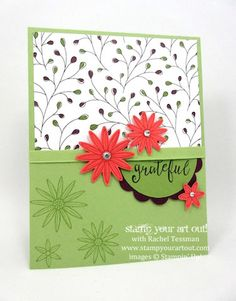 March 2016 Grateful Bunch In-Person/To-Go Class Cards… #stampyourartout #stampinup - Stampin' Up!® - Stamp Your Art Out! www.stampyourartout.com
