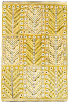 Sweden | Handwoven rölakan / flatweave / kilim rug, unattributed.  20th C.