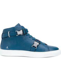 LOUIS LEEMAN Buckled Hi-Top Sneakers. #louisleeman #shoes #sneakers