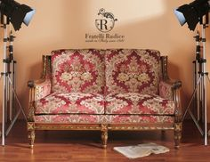 fratelliradice.com  Louis XVI Style 2 seater sofa walnut polished with gold leaf #FratelliRadice #italianfurniture #madeinitaly #sofa