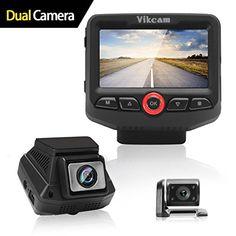 AWESAFE Dashcam R/ückspiegel 10 Full HD Touchscreen 1080P Frontkamera und 1080P wasserdichte R/ückfahrkamera Streaming Autokamera