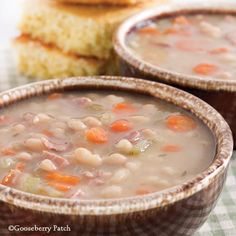 Gooseberry Patch Recipes: Ham & Bean Soup from 101 Farmhouse Favorites Cookbook