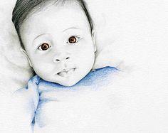 Portraits Custom Portrait Child's Portrait by ABitofWhimsyArt