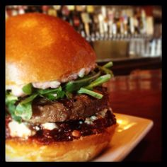 The Red Monk is BACK for Fall at The Back Abbey: cranberry/apple chutney, feta cheese, arugula, cranberry whole grain mustard. Crazy good with either their 100% dark meat turkey patty or dry aged beef.