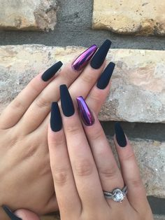 35 Impressive Purple Nails Are Suitable for this Summer - bedroom 35 Impressive Purple Nails Are Suitable for this Summer 35 Impressive Purple Nails Are Suitable for this Summer nails art, nails design, purple nails - Purple Chrome Nails, Black And Purple Nails, Purple Acrylic Nails, Best Acrylic Nails, Matte Nails, Purple Nail Art, Chrome Nails Designs, Purple Nail Designs, Nail Swag