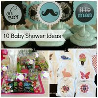 10 Creative Baby Shower Ideas. LOVE the mustache/Little Man idea, as well as the create a onesie with iron on fabric and fabric markers :)