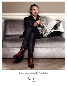 THE advertising for Berluti Jeremy Irons, elegance and style for Berluti SS 2013 #berluti#fashion