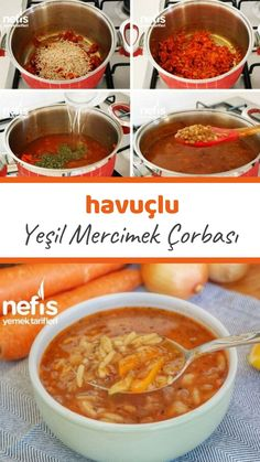 Green Lentil Soup (with video) - Yummy Recipes Green Lentil Soup, Green Lentils, Pizza Pastry, Turkish Recipes, Ethnic Recipes, Rice Recipes, Lentil Recipes, Yummy Recipes, Food Videos