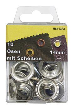 Ösen 14 mm, 10 Stück (sortiert) Farbe: silber: Amazon.de: Baumarkt