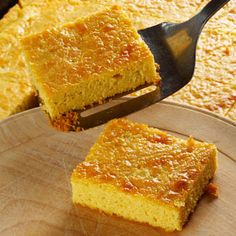 Chipa guazu... a corn cake with cheese, eggs and onions yum!