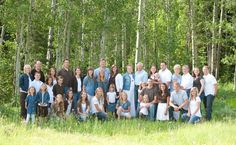 Large family reunion photo near Bear Lake