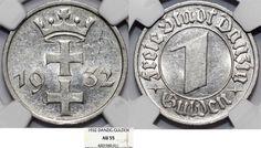 World Coins - Free City of Danzig. 1 Gulden 1932. NGC AU55, nice