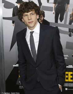 Jesse Eisenberg....I am in love with him in 'now you see me' :)
