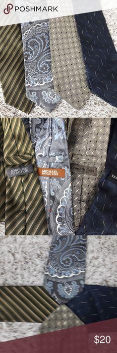 Lot 4 Michael Kors Neck Ties Neckties Lot 4 Michael Kors Neck Ties Neckties No rips, tears or stains Michael Kors Accessories Ties