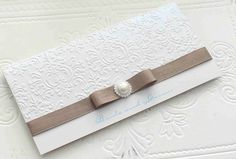 invitations by bwr Embossed Wedding Invitations, Invites, Elegant, Accessories, Classy, Chic