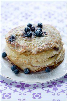 Blåbær pandekager, 214 kcal